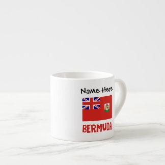 Tasse Expresso Drapeau bermudien Bermudes avec le nom