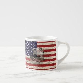 Tasse Expresso Drapeau et symboles des Etats-Unis ID155