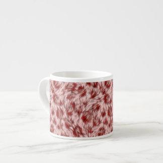 Tasse Expresso Faux motif rose et rouge de fourrure de léopard