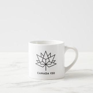 Tasse Expresso Logo de fonctionnaire du Canada 150 - contour noir