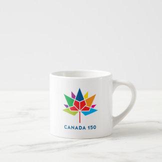 Tasse Expresso Logo de fonctionnaire du Canada 150 - multicolore