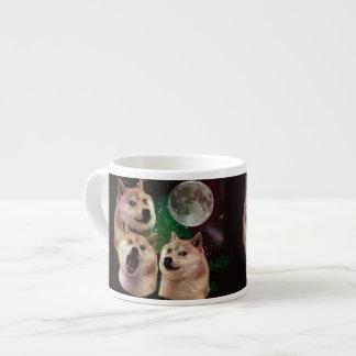 Tasse Expresso Lune de doge - l'espace de doge - chien - doge -