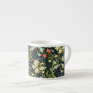 Tasse Expresso Motif floral vintage William Morris de lis d'or