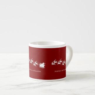 Tasse Expresso Père Noël sur Sleigh Fröhliche Weihnachten