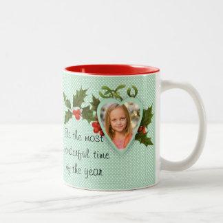 Tasse faite sur commande de Noël de photo