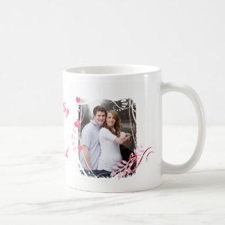 Tasse faite sur commande de photo d'amour de