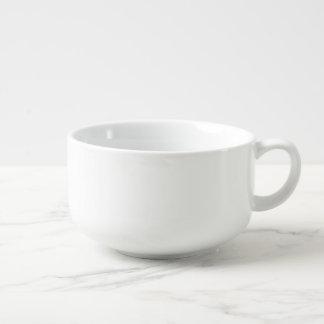 Tasse faite sur commande de soupe à porcelaine du mug à potage