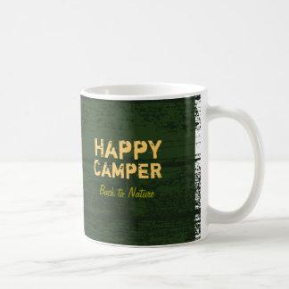 Tasse faite sur commande rustique de camping de