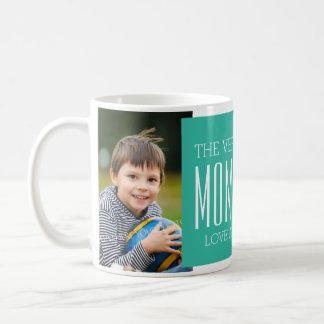 Tasse faite sur commande Teal du jour de mère de