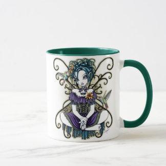 Tasse féerique d'art de colibri gothique de