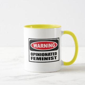 Tasse FÉMINISTE PERSISTANTE d'avertissement