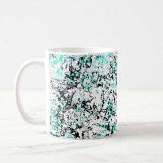 Tasse florale bleu vert de concepteur de tasse de