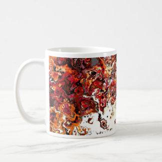 Tasse florale de concepteur de remous d'automne