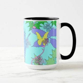 Tasse florale de motif