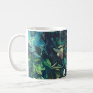 Tasse florale en céramique de magnolia tropicale