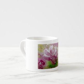 Tasse florale rose d'espress