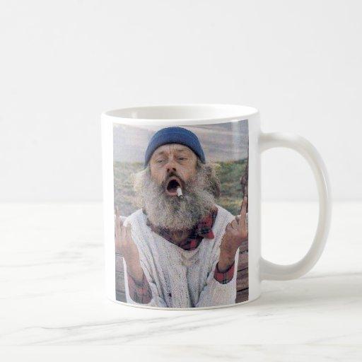 Tasse folle de vieil homme
