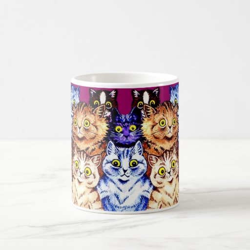 Tasse fraîche de chats par Louis Wain