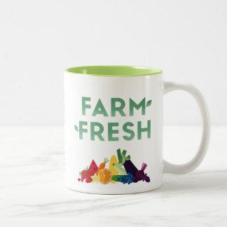Tasse fraîche de ferme organique