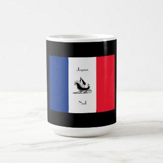 Tasse française de Joyeux Noel de drapeau