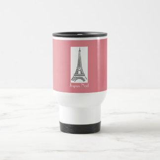 Tasse française de Tour Eiffel de rose de Noël de
