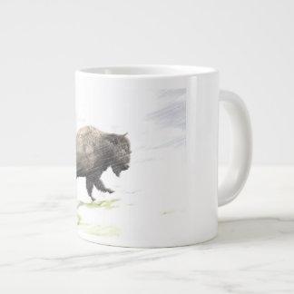Tasse Géante Bison dans la tempête d'hiver