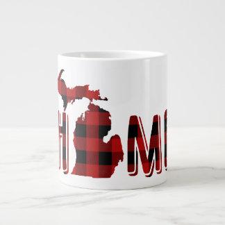 Tasse Géante Bûcheron noir et rouge Michigan du plaid | de