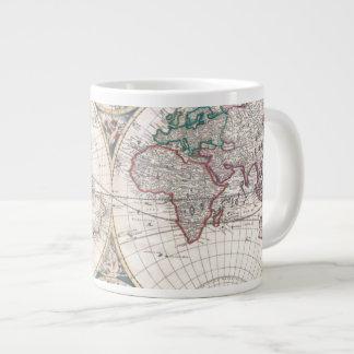 Tasse Géante Carte antique du monde de Double-Hémisphère