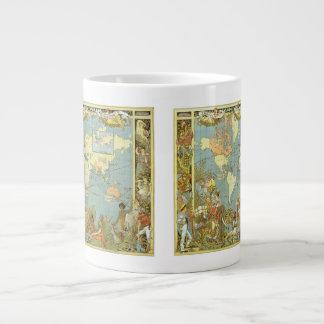 Tasse Géante Carte antique du monde de l'Empire Britannique,