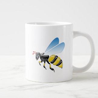Tasse Géante jaunes 3D et noirs brillants gaffent l'abeille