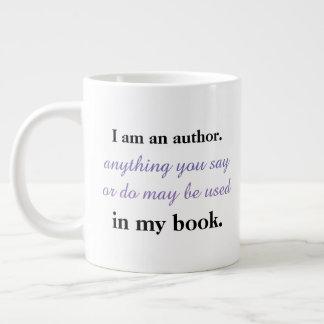 Tasse Géante Je suis un auteur