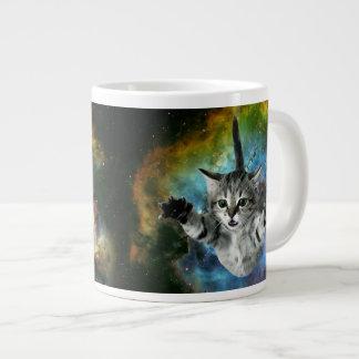 Tasse Géante Lancement de chaton d'univers de chat de galaxie