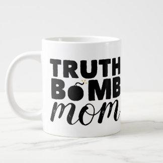 Tasse Géante Logo enorme des textes de maman de bombe de vérité