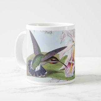 Tasse Géante L'orchidée d'animaux d'oiseaux de colibri fleurit