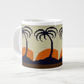 Tasse Géante Palmiers tropicaux avec le crochet orange de