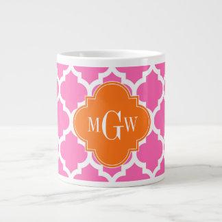 Tasse Géante Pink#2 #5 monogramme initial du citrouille 3