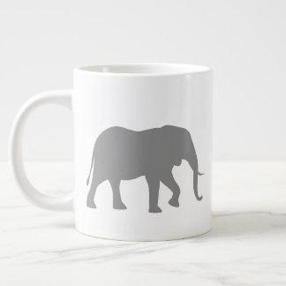 Tasse Géante Silhouettes d'éléphant africain