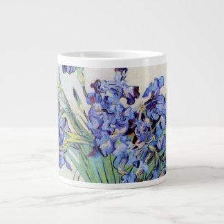 Tasse Géante Vase à Van Gogh avec des iris, beaux-arts floraux