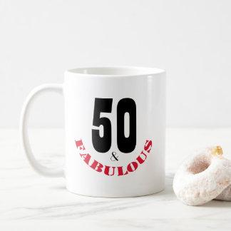 Tasse géniale de cadeau d'anniversaire pour 50 ans