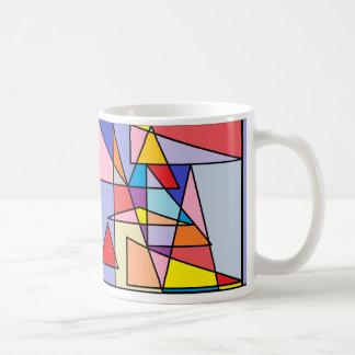 Tasse géométrique d'impression, triangles colorées