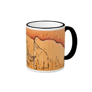 Tasse gigantesque d'art de caverne