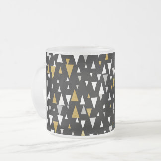 Tasse Givré Art moderne de triangle - or noir