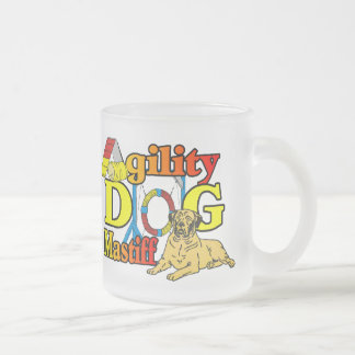 Tasse Givré Cadeaux de chien d'agilité de mastiff