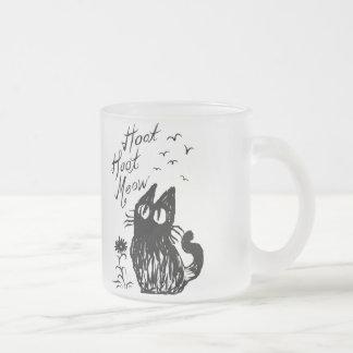 Tasse Givré Chat de hibou (noir)