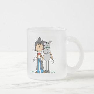 Tasse Givré Chiffre cow-girl de bâton avec des T-shirts de