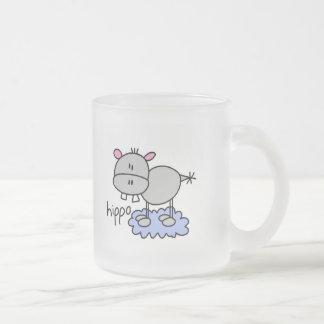 Tasse Givré Chiffre T-shirts et cadeaux de bâton d'hippopotame