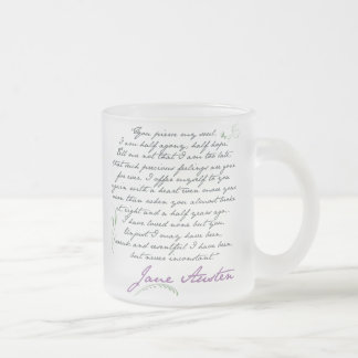 Tasse Givré Citation #1 de la persuasion de Jane Austen