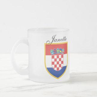 Tasse Givré Drapeau de la Croatie personnalisé