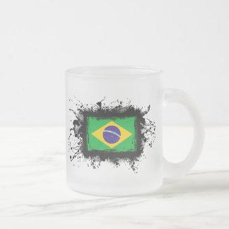 Tasse Givré Drapeau du Brésil