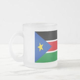 Tasse Givré Drapeau du sud du Soudan